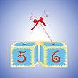 Векторный клипарт: кубики с цифрами