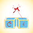 Cubes alphabet C | Stock Vector Graphics