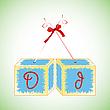 Vector clipart: cubes alphabet D