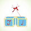 Vector clipart: cubes alphabet J