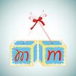Векторный клипарт: кубики с буквами
