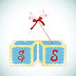 Vector clipart: cubes alphabet S