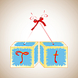 Cubes alphabet T | Stock Vector Graphics