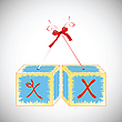Cubes alphabet X | Stock Vector Graphics