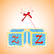 Vector clipart: cubes alphabet Z