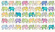 Vector clipart: elephant background