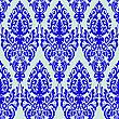 Vector clipart: damask blue seamless texture