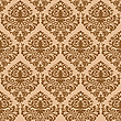 Vector clipart: damask brown seamless texture