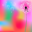 Vector clipart: dandelion composition