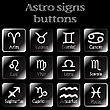 Vector clipart: dark astro sign buttons
