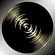 Vector clipart: dark vinyl circle