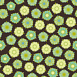 Vector clipart: design with seamless flowers pattern