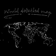 Vector clipart: detailed world map over black background