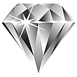 Vector clipart: diamond against white