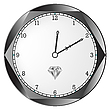Vector clipart: diamond clock