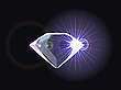 Vector clipart: diamond with light reflection
