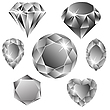 Vector clipart: diamonds collection