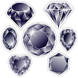 Vector clipart: diamonds labels