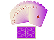 Vector clipart: diams cards fan with deck isolated on white