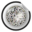 Vector clipart: disco ball black sticker