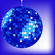 Vector clipart: disco ball blue