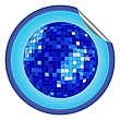 Vector clipart: disco ball blue sticker