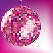 Vector clipart: disco ball purple