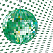 Vector clipart: discoball green