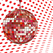 Vector clipart: disco ball red
