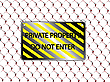 Vector clipart: private property do not enter inscription