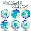 Vector clipart: earth globes collection
