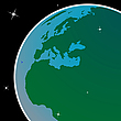 Vector clipart: earth out of space