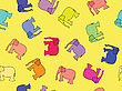 Vector clipart: elephants seamless pattern