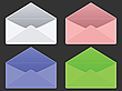 Vector clipart: empty envelopes