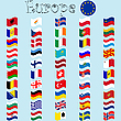 Vector clipart: europe stylized flags