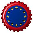 european union flag on bottle cap