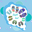 Vector clipart: family beach shoes