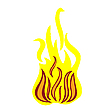 Vector clipart: fire on white
