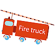 Vector clipart: fire truck