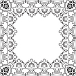 Vector clipart: floral black frame against white