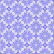 Vector clipart: floral seamless blue pattern
