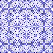 Векторный клипарт: синий бесшовный фон
