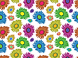 Vector clipart: flowers seamless pattern