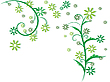 Vector clipart: flowers foliage