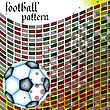 Vector clipart: football abstract pattern