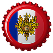 Vector clipart: france abstract flag on bottle cap