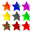 Vector clipart: fresh star-shaped labels