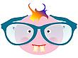 Векторный клипарт: мальчик в больших очках