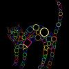 Векторный клипарт: геометрическая кошка