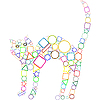 Vector clipart: geometric cat